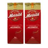 2 poser Rød Merrild 103 kaffe, 400 g