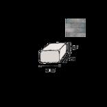 IBF Holmegaardsten®, halve, 14x10,5x5,5 cm, gråmix ¤