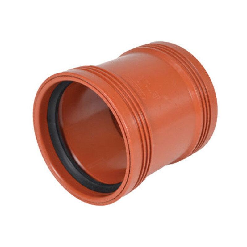 Wavin Wafix kloakrør PP rød skydemuffe 160 mm