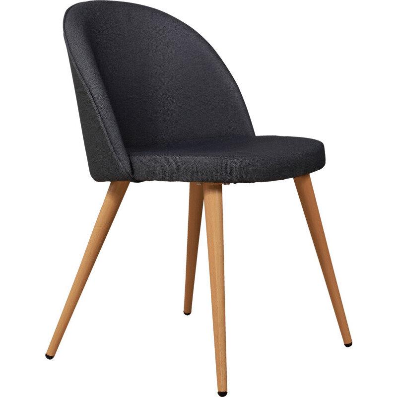Sofia Spisebordsstol, Grå Med Trælook Stel