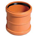 Kloakrør PVC rød dobbeltmuffe 110 mm ~
