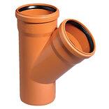 Kloakrør PVC rød grenrør 45°x110x110 mm ~