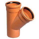 Kloakrør PVC rød grenør 45°x160x110 mm ~