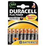 "Duracell Plus Power batteri LR03 ""AAA"" 1,5V 8 stk."