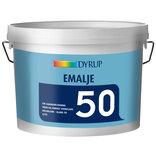 Dyrup Emalje 50 træ- og metal 2,5 liter - hvid