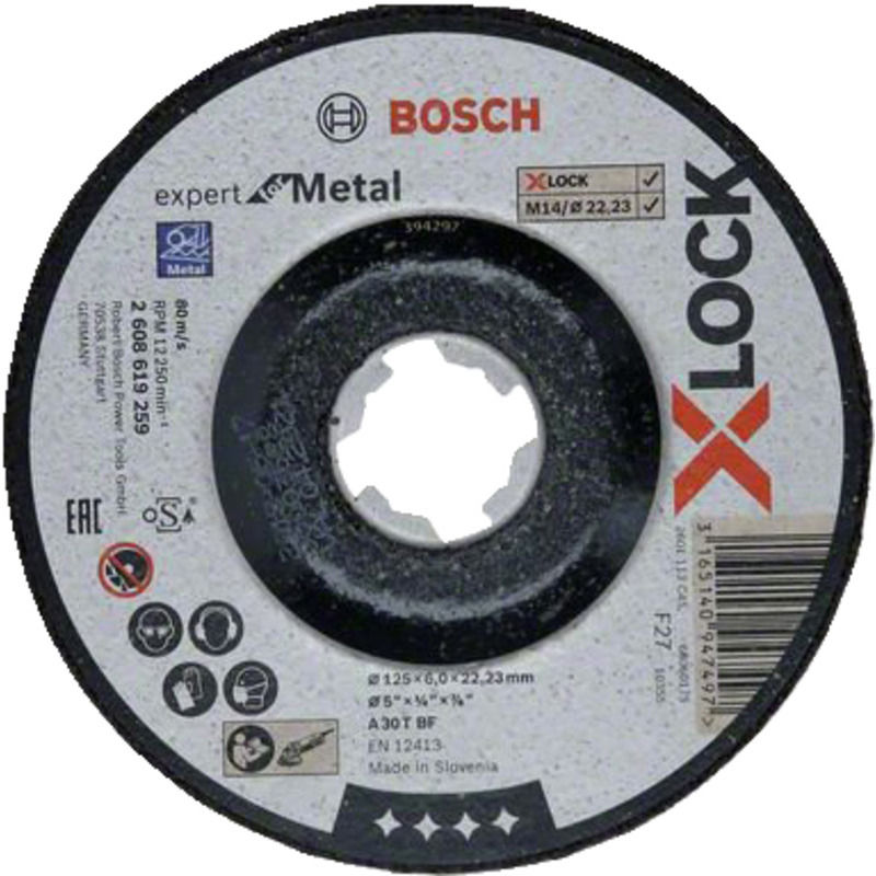 Billede af Bosch X-Lock Expert for Metal skrubskive forkrøppet 125x6 mm