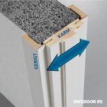 Swedoor Flex +Karm 110 mm hvid fyr 686x2089 mm m/std.bund i bøg ~