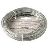NKT stålwire 1,5/3 mm x 10 m elforz. PVC belagt ~