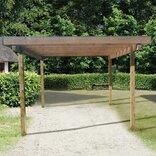 Frode carport (320 x 374 cm) inkl trapeztag ~