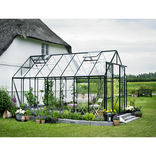 Halls Magnum 148 grøn 11,5 m² drivhus 3 mm hærdet glas m/sokkel ¤