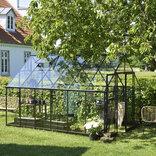 Halls Qube+ 812 sort 9,9 m² drivhus 3 mm hærdet glas ¤