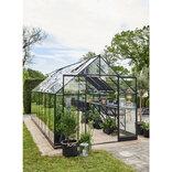 Halls Qube+ 816 sort 13,0 m² drivhus 3 mm hærdet glas ¤