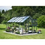 Juliana Junior 12,1 m² - drivhus antracit 3 mm hærdet glas ¤