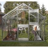 Juliana Junior 9,9 m² - drivhus alu. 3 mm hærdet glas ¤