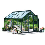 Juliana Junior 9,9 m² - drivhus antracit 3 mm hærdet glas ¤