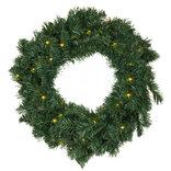 Sirius Anton julekrans grøn cm m. 30 LED-lys varm hvid Ø45 cm