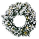 Sirius Anton julekrans snowy m. 30 LED-lys varm hvid Ø45 cm