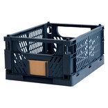 Opbevaringskasse foldbar 33x24,5x15 cm blå