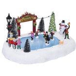 Julelandskab m/ skøjtebane 32,5x24x16,5