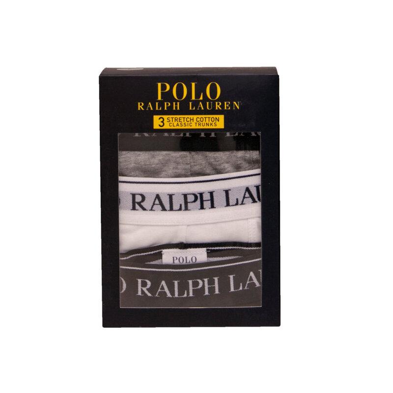 Ralph Lauren Boxershorts 3 Pk. Str. S Sort/hvid/grå