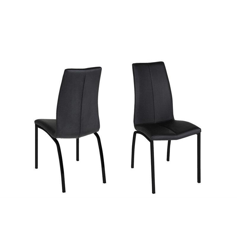Naomi Spisebordsstol, Sort Med Sort Stel