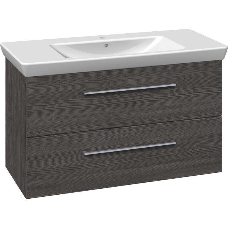 Scanbad Multo+ Vaskeskab Pine Grey Med Lotto Xl Vask 105 Cm