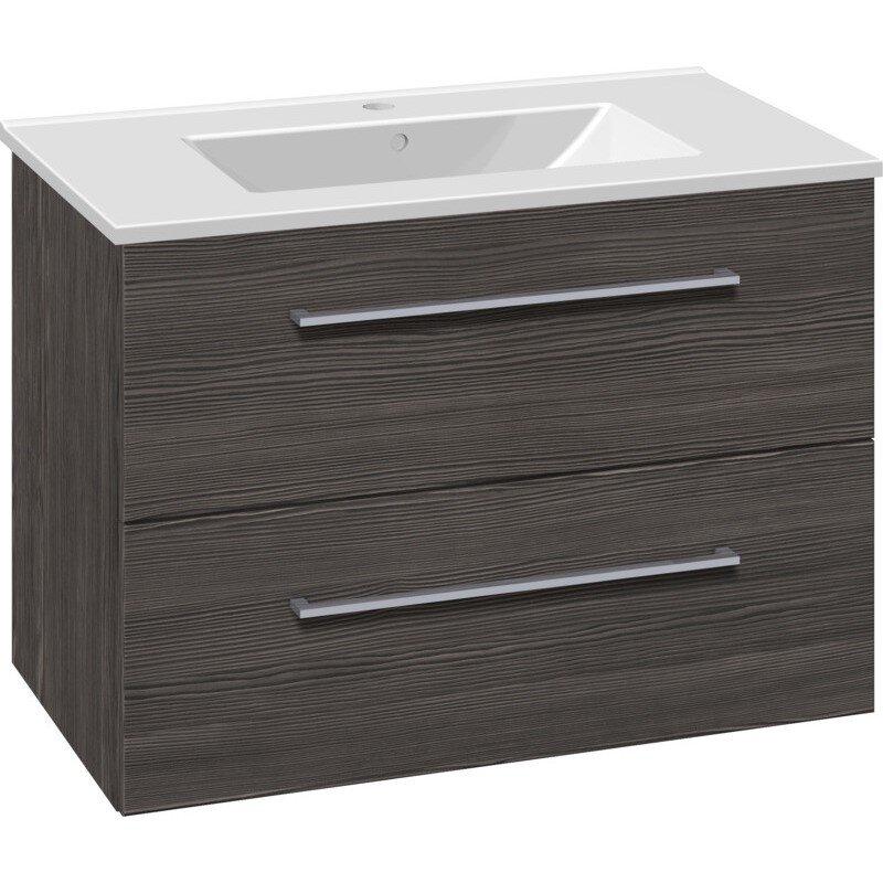 Scanbad Multo+ Vaskeskab Pine Grey Med Dina Vask 80 Cm