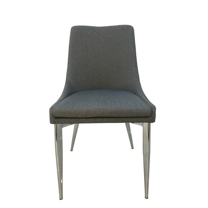 Fiora Spiseborddstol, Grå Med Krom Stel