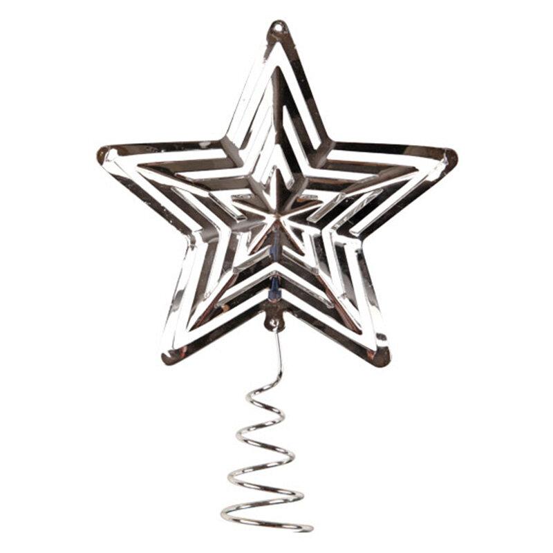 Star collection topstjerne sølvfarvet Ø18,8 cm