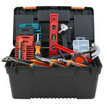 """Max værktøjskasse 15"""" med 252 dele"""