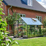 Halls Qube 610 sort 6,4 m² drivhus 3 mm hærdet glas ¤