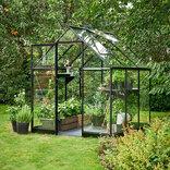 Halls Qube 66 sort 3,9 m² drivhus 3 mm hærdet glas ¤