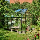 Halls Qube 68 sort 5,1 m² drivhus 3 mm hærdet glas ¤