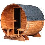 Udendørs saunatønde i teakfarve 2-3 pers. - 205x200 cm