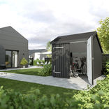 Plus cykelskur m/dobbeltdør 6,5 m² ubehandlet ¤