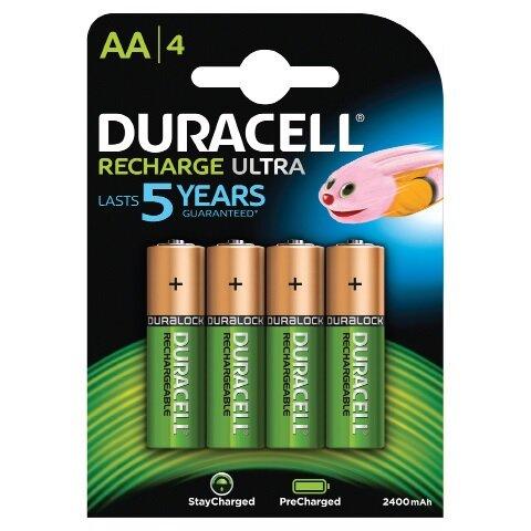 "Duracell Staycharged (genopladelig) Batteri Lr6 ""aa"" 4 Stk."