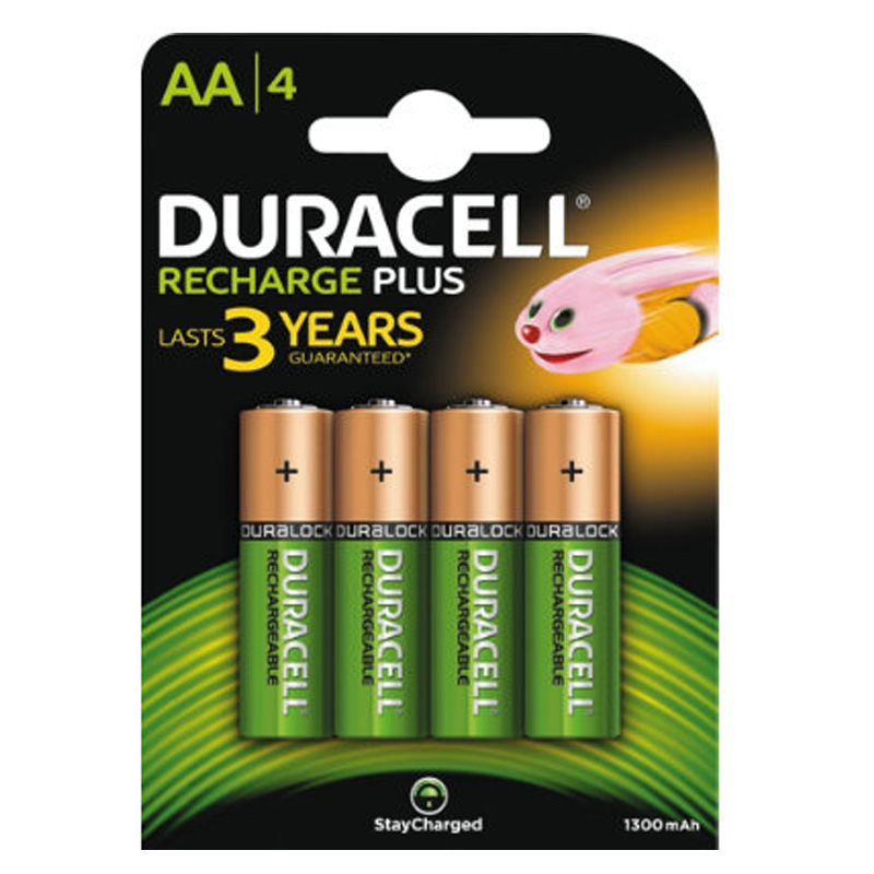 "Duracell Recharge (genopladelig) Batteri Lr6 ""aa"" 4 Stk."