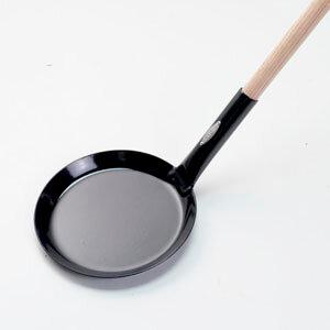 Billede af Bon-Fire pandekagepande Ø 28 cm sort emalje/træskaft