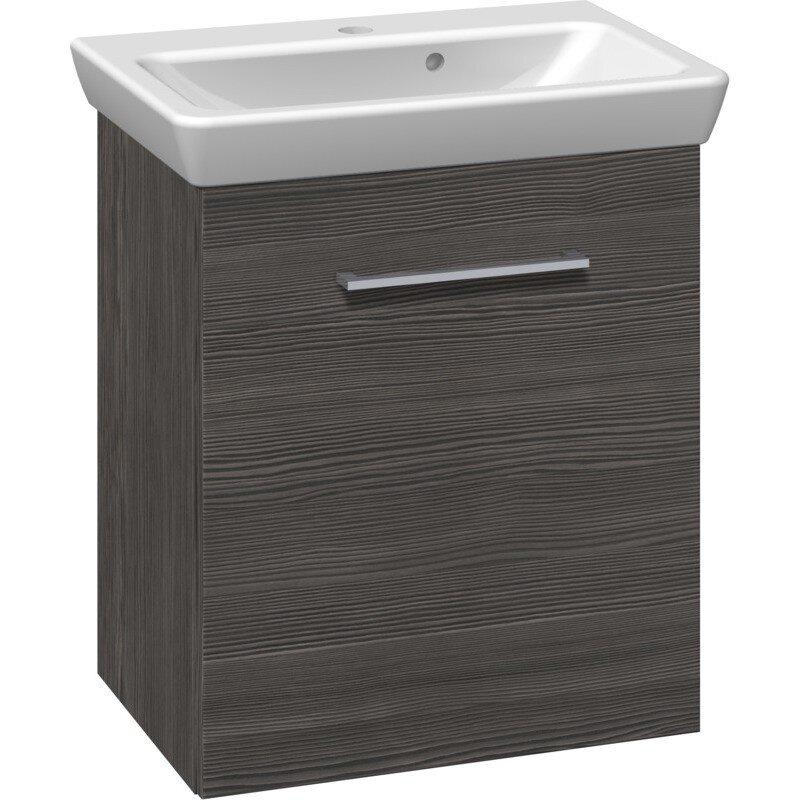 Scanbad Multo+ Vaskeskab Pine Grey Med Lotto Vask 55 Cm