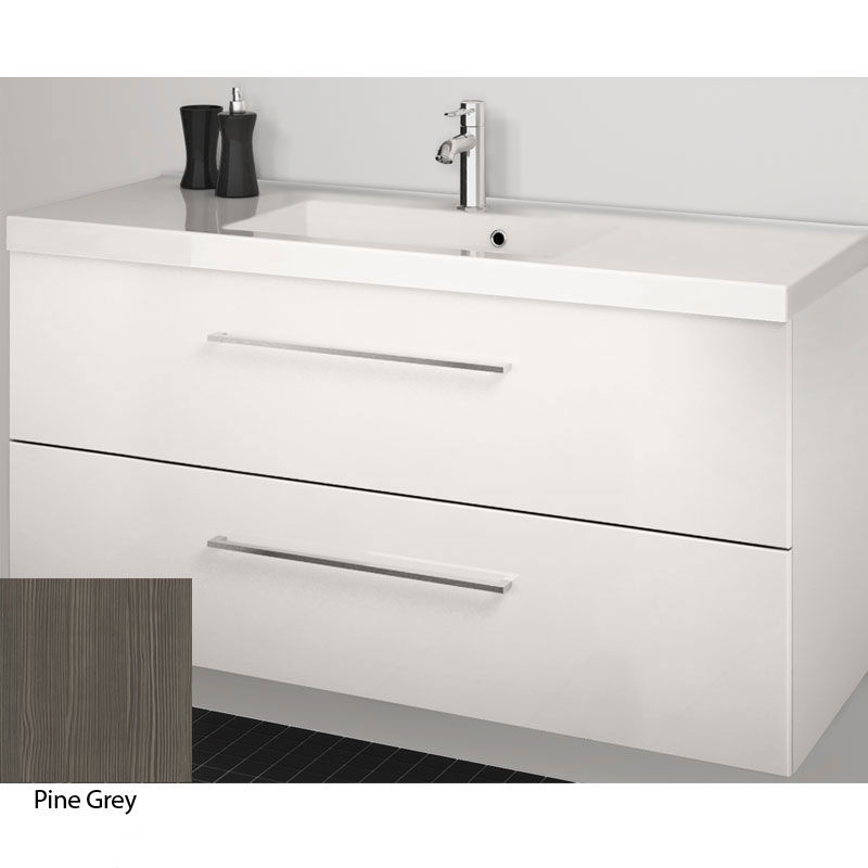 Scanbad Multo+ Vaskeskab Pine Grey Med Aura Vask 120 Cm.