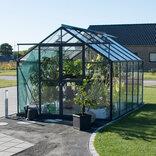 Elmholm Standard 9,75 m² drivhus. Antracit med 3 mm hærdet glas