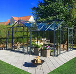 Elmholm Exclusive Orangeri 17,65 m². Antracit med 4 mm hærdet glas
