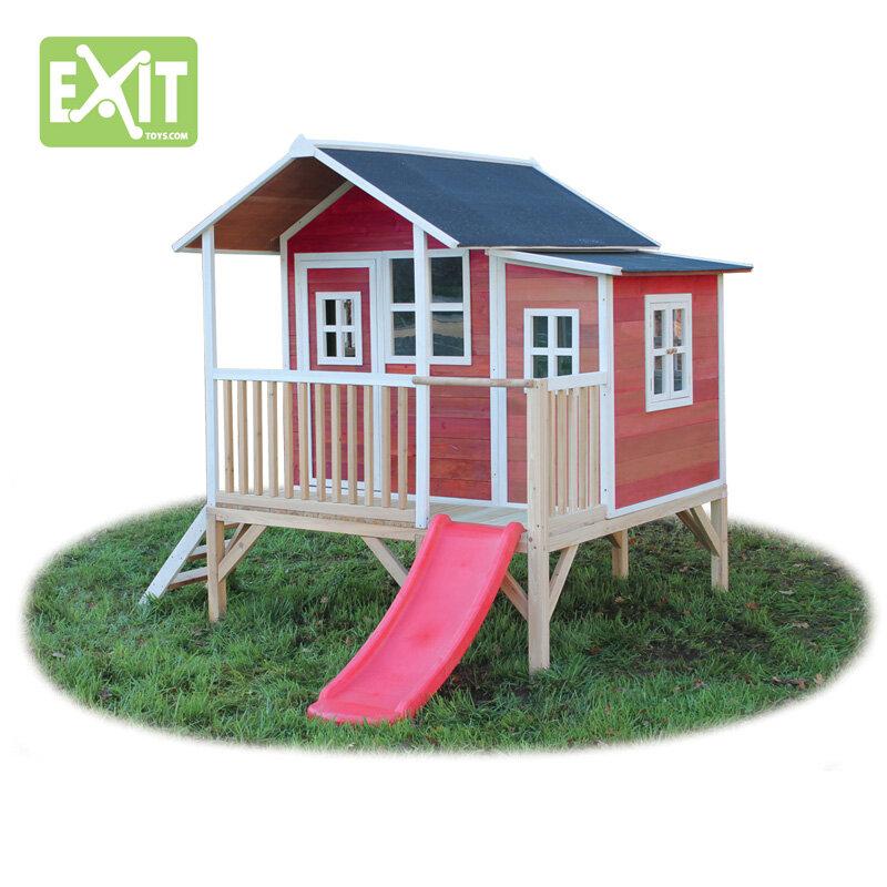 Exit Loft 350 rødt legehus - 200x280x225 cm
