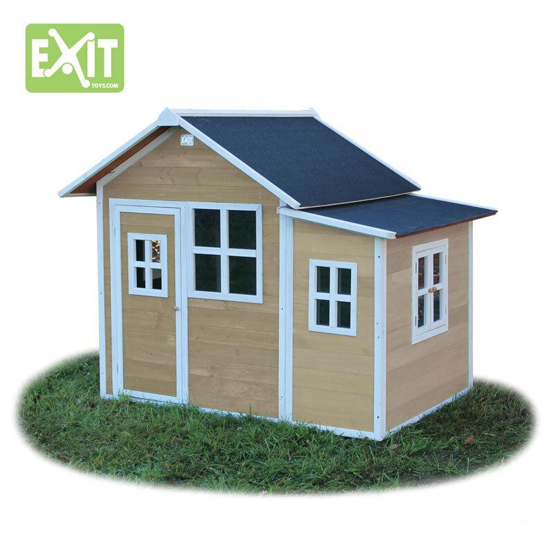 Exit Loft 150 naturfarvet legehus - 149x191x160 cm
