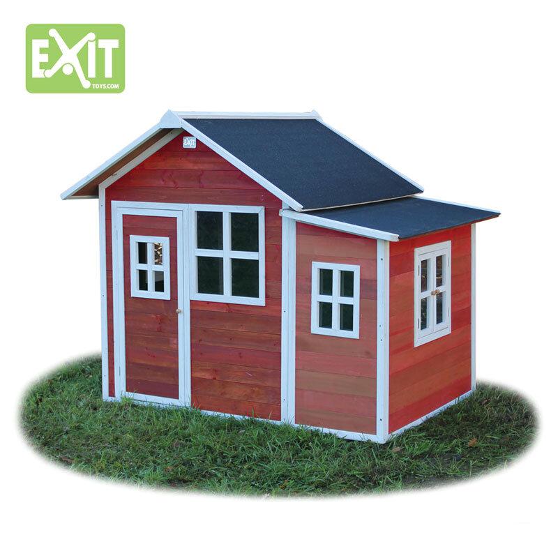 Exit Loft 150 rødt legehus -149x191x160 cm