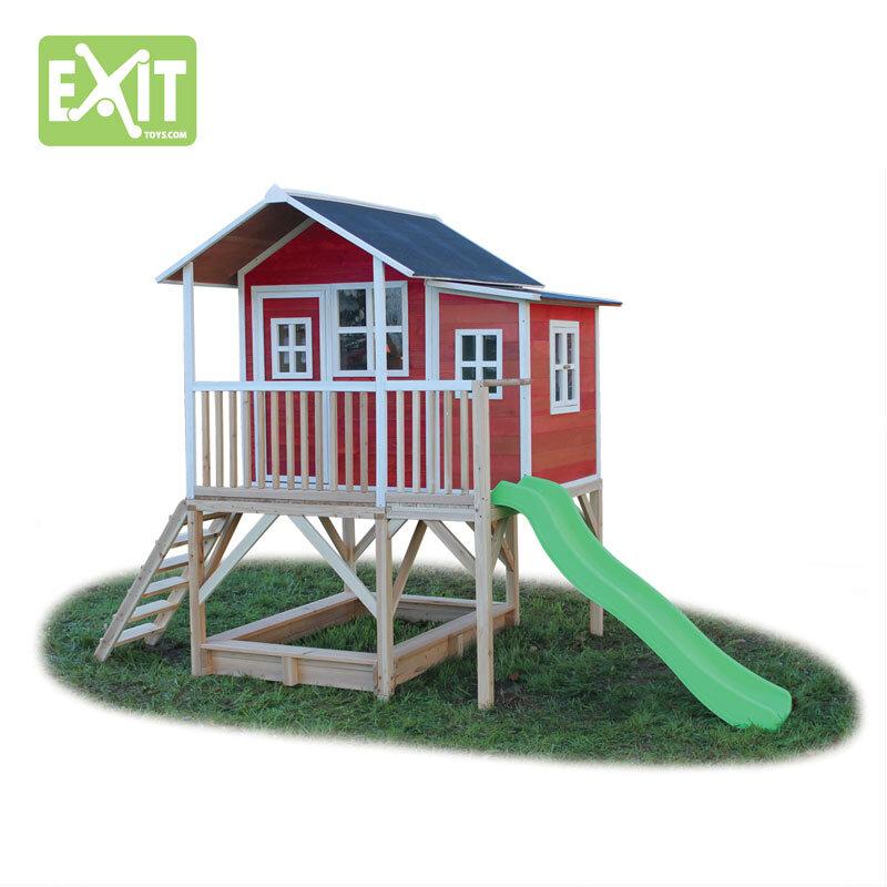 Exit Loft 550 rødt legehus - 348x220x255 cm