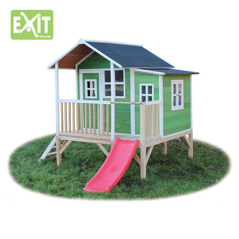 Exit Loft 350 grønt legehus - 200x280x225 cm