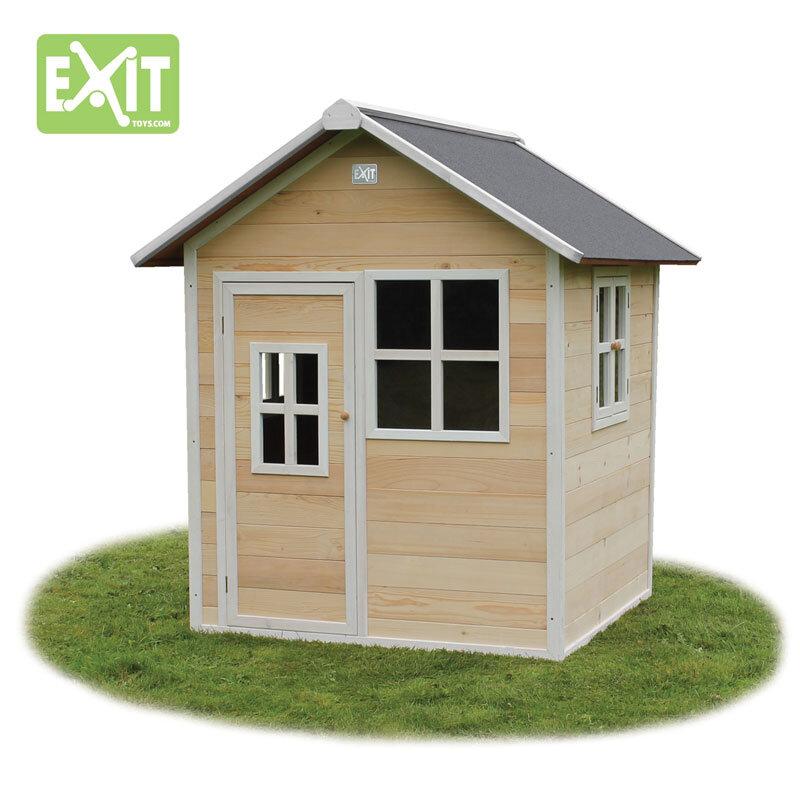 Exit Loft 100 legehus -140,5x149x160 cm natur
