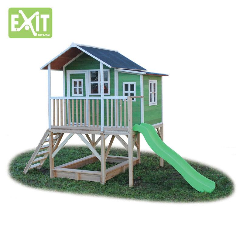 Exit Loft 550 grønt legehus - 348x220x255 cm