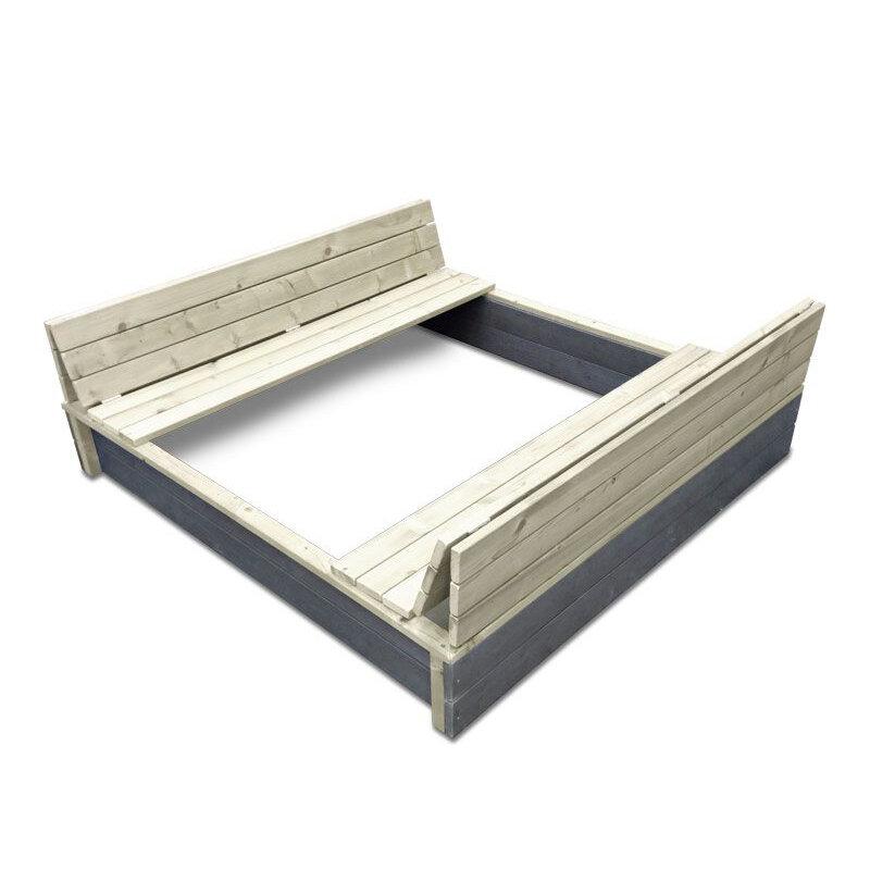 Exit aksent sandkasse XL 136x132 cm m/foldbart låg